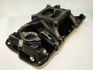 Edelbrock 75013 Air Gap Aluminum Intake Chevy Sbc 283 302 327 350 400 Black