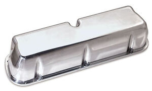 Moroso Tall Valve Covers Polished Cast Aluminum Sbf P n 68450