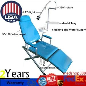 Dental Portable Folding Chair Unit water Supply Flushing System Cuspidor Tray