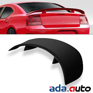 Matte Black Rear Trunk Spoiler For 2006 2010 Dodge Charger Factory Style Wing