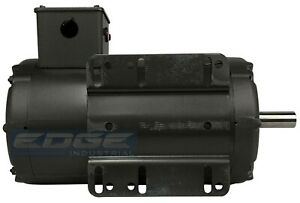 Baldor 5hp Air Compressor Electric Motor 56hz 1 phase 208 230v 7 8 Shaft