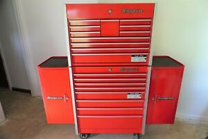 Snap On Cabinet 8 Drawers W Top Tool Chest Side Cabinets On Both Sides