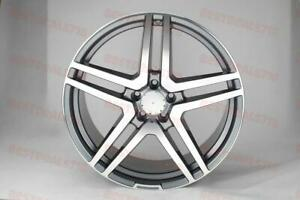 20 Mercedes Benz Amg Gunmetal Rims Staggered S550 S500 S430 S Class Sedan Coupe