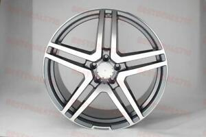 20 Mercedes Benz Gunmetal Amg Style Rims Wheels Fits S Class Staggered 4matic
