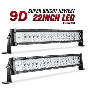 2x 22 Inch 240w Led Work Light Bar Flood Spot Offroad For Jeep Boat Truck 22