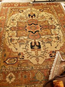 Gorgeous Vintage Wool 8 X 12 Hand Knotted Persian Oriental Rug
