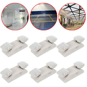 6x Led Emergency Lights Commercial Lighting Exit Light Fixture 360 Adjustable