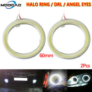 2pcs Car Angel Eyes Led Headlight 60mm Halo Ring Warning Lights Dc 12v