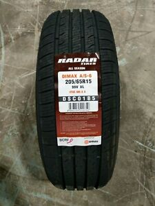 205 65r15 Radar Dimax A S 6 99v Xl Set Of 4