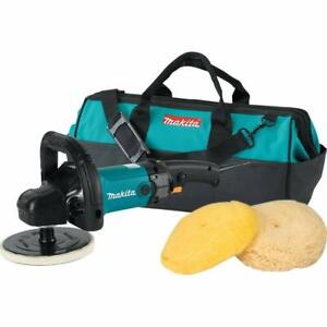 Makita 9237cx3 7 Inch Variable Speed Polisher Sander With Polishing Kit