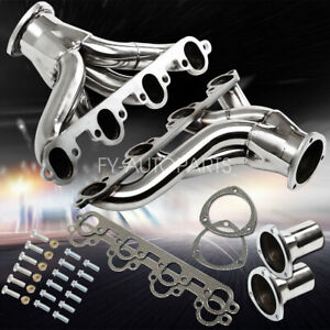 For 429 460 Ford Bbc Big Block Stainless Shorty Hugger Header Exhaust Manifold