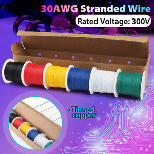 22 30 Awg Gauge Electric Wire Tinned Copper Flexible Pvc Hookup total 54m