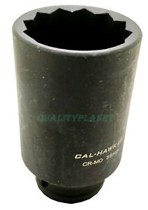 1 2 Dr Deep Impact Spindle Axle Nut Socket 12 point Cr mo choose Your Size