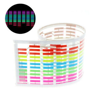 Auto Car Rgb Led Music Rhythm Flash Light Sound Activated Equalizer Rear Sticker