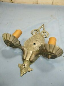 Vintage Wall Sconce Light Fixture Double Light Medieval Gothic Style