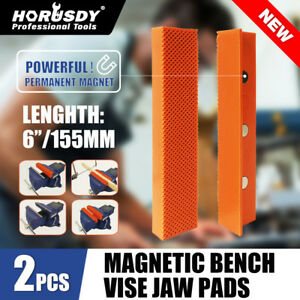 4 5 6 Vise Soft Jaws vice Jaw Magnetic Reversible Pads Universal 2 Sets In 1