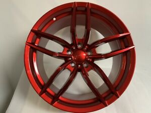 Four 19 Staggered Candy Red V Style Rims Wheels Fits G35 G37 G35x G37x Jdm 5114