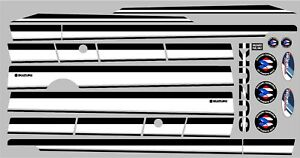 Suzuki Samurai Decals Lines Stickers Calcomanias Graficas Black And White