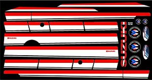 Suzuki Samurai Decals Lines Stickers Calcomanias Graficas Red Black And White
