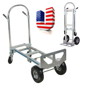 770lbs Cart Folding Dolly Collapsible Trolley Push Hand Truck Moving Usa Ship