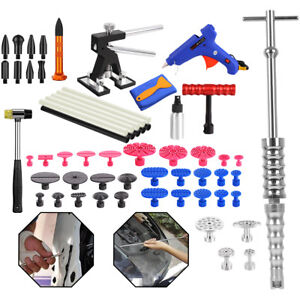 Paintless Dent Repair Removal Tool Dent Lifter Puller T Bar Slide Hammer Kit Kk