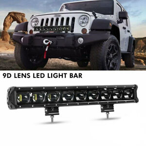 20 Inch Cree 1 row 9d Driving Light Offroad Led Work Light Bar For Truck Jeep
