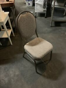 Grey Banquet Chair Restaurant Chair Crown Back Stacking Lot Of 400