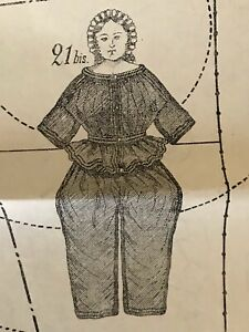 September 1862 Sewing Patterns For Doll Tracings