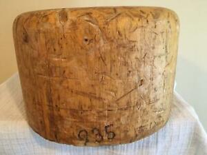 Wooden Oversized Square Crown Millinery Wood Block Hat Making Form Mold Brim