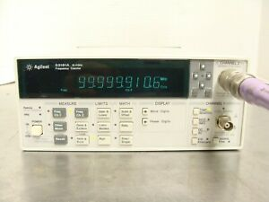 Hp Agilent 53181a 10 Digit Rf Frequency Counter 225mhz 12 4ghz No Options