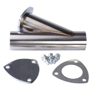 2 25 Exhaust Tip Y Pipe Adapter Connector Single To Dual 304 Stainless Steel