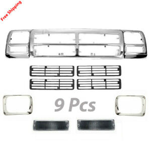 New For Dodge D150 D250 1991 1993 Fits Grille Headlamp Door Signal Lamp Assembly