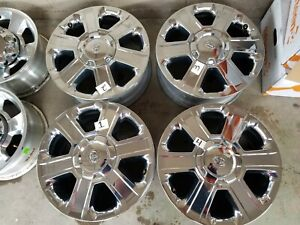 2014 19 20inch Toyota Tundra Chrome Clad Oem Factory Wheels Rims Set Of4