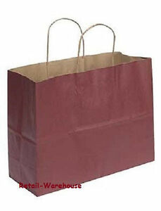 Paper Vogue Shopping Bags 100 Large Red 16 X 6 X 12 Retail Merchandise Gift