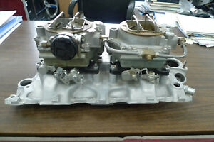 1957 To 1961 Corvette Intake Manifold 3739653 And Dual Carter Wcfb Carburetors
