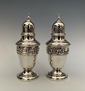 Gorham Strasbourg Sterling Silver Salt And Pepper Shakers 1138