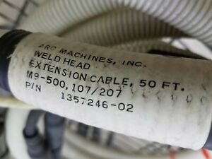 Arc Machines Inc Model 207 Weld Head Extention Cable 50 Ft Orbital Welder Ami