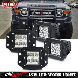 For Toyota Tundra 4runner Flush Mount Rear Led Tail Front Fog Lights Bumper 4pc
