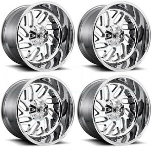 22x12 Chrome Wheels Fuel Triton D609 6x135 6x5 5 43 Set Of 4