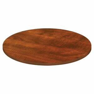 Lorell Chateau Series Round Conference Table Top 4 w Cherry