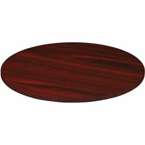 Lorell Chateau Series Round Conference Table Top 4 w Mahogany