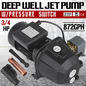 3 4 Hp Shallow Or Deep Well Jet Pump W pressure Switch 141 Ft Ip44 Convertible