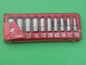 Snap On 110tmsy 10 Pc Semi Deep Mid Sae Socket Set 1 4 Dr 3 16 9 16 Tms