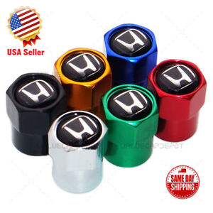 Universal Hex Black H Logo Car Wheels Tire Air Valve Cap Stem Dust Cover Sport