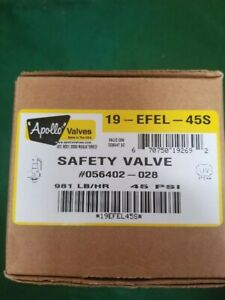 Steris 056402 028 Apollo 19 efel 45s 1 Brass Safety Valve New In Box Steris