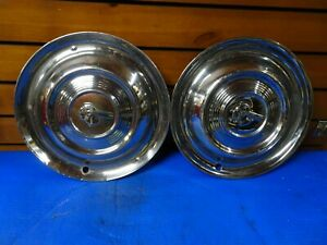 Vintage Original 1951 Pontiac Chieftan Hub Caps Wheel Covers Set Of 2
