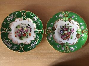 Two 2 Antique 19th Century Russian Popov Imperial Factory Porcelain Plates 9
