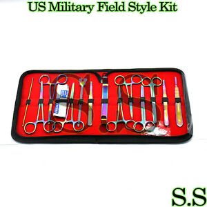 24 Us Military Field Style Instrument Kit Medical Surgical Multi Color Ds 1280