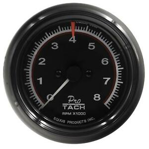 Equus 6088 Tachometer 6000 Series 0 8000 Rpm 3 3 8in Dia Faceanalog Electrical
