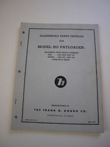 Ih Hough Ho Front end Wheel Pay Loader Tractor Parts Catalog Manual List 22e 23e